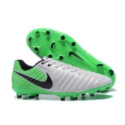 Nike Cuir Crampons Foot Tiempo Legend 7 FG Homme - Blanc Vert