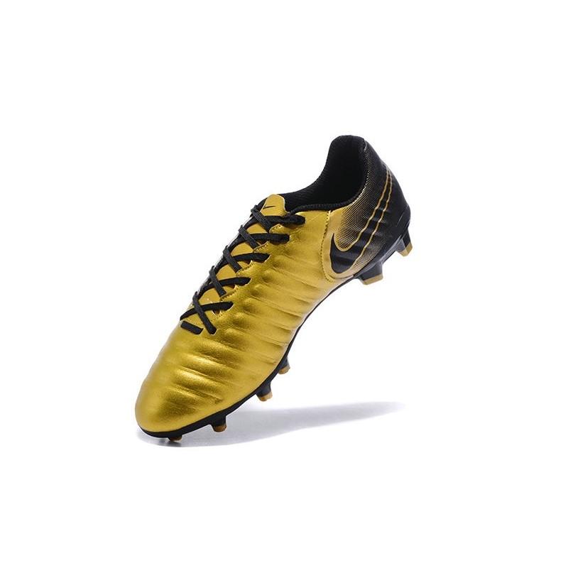 size 40 92b4c 62421 Nike Cuir Crampons Foot Tiempo Legend 7 FG Homme - Or Noir Zoom. Précédent.  Suivant
