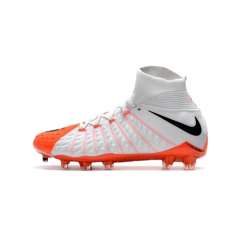 Nike Chaussures Hypervenom Phantom 3 DF Blanc FG Flyknit Blanc DF Orange c43ca5