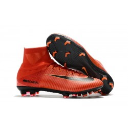 Nike Mercurial Superfly V FG ACC Crampons Football - Rouge Noir