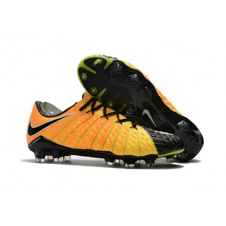 Nike Hypervenom Phantom 3 FG Crampons Football 2017 - Jaune Noir