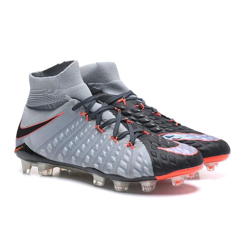 finest selection 7b9f1 b66ce Nike Chaussures Hypervenom Phantom 3 DF FG Flyknit - Gris Noir Zoom.  Précédent · Suivant