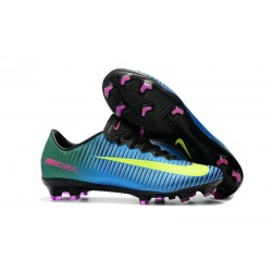 Chaussures de Foot Nike Mercurial Vapor XI FG ACC - Bleu Jaune