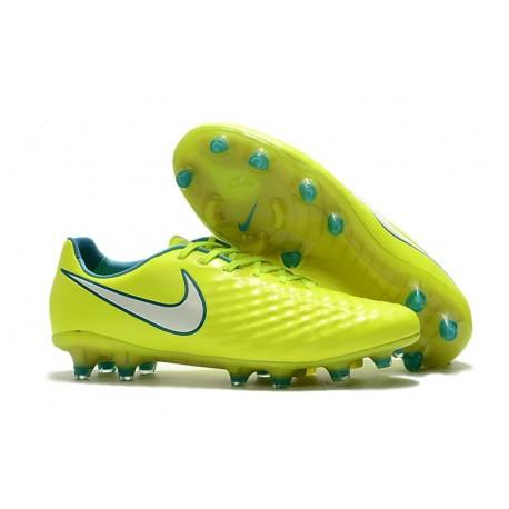 Nike Nouveau Crampons de Foot Magista Opus II FG ACC Jaune Blanc