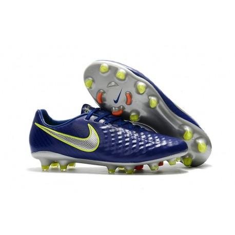Nike Nouveau Crampons de Foot Magista Opus II FG ACC Deep Blue Silver