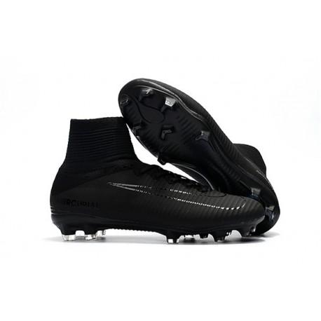 Chaussure de Foot Nike Mercurial Superfly 5 DF FG - Tout Noir