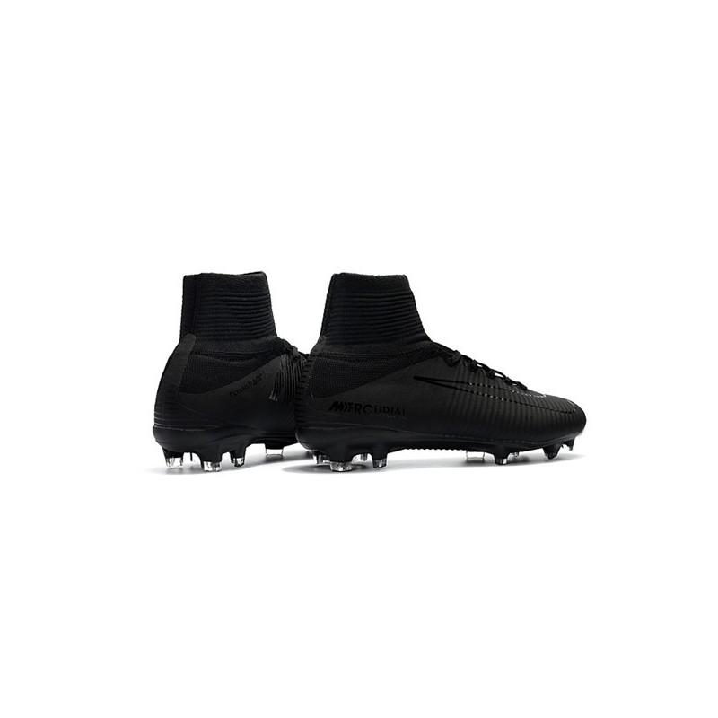best sneakers 488c3 b120f Chaussure de Foot Nike Mercurial Superfly 5 DF FG - Tout Noir Zoom.  Précédent · Suivant