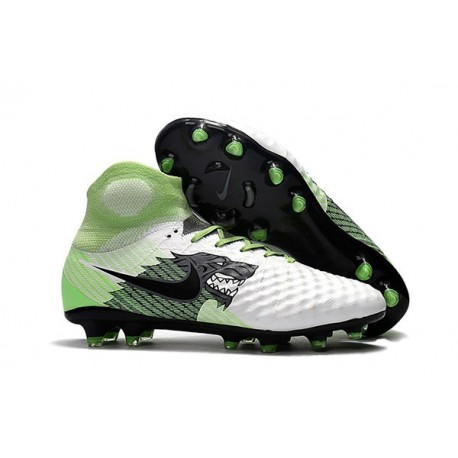 Nike Crampons de Football Magista Obra 2 FG ACC Blanc Noir Vert