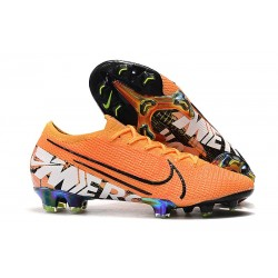 Nike Crampons Mercurial Vapor XIII ELITE FG Orange Blanc