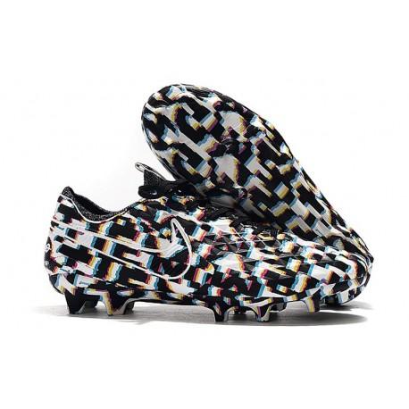 Chaussures Nike Tiempo Legend VIII Elite FG Noir Blanc