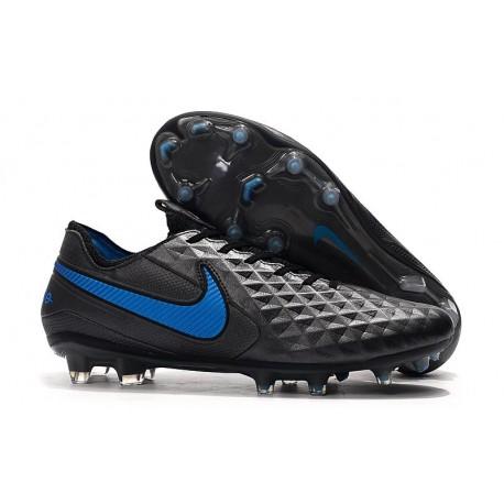 Chaussures Nike Tiempo Legend VIII Elite FG Noir Bleu