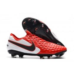 Chaussures Nike Tiempo Legend VIII Elite FG Rouge Blanc Noir