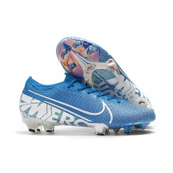 Nike Crampons Mercurial Vapor XIII ELITE FG Bleu Blanc