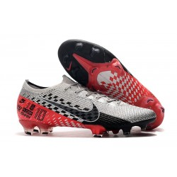 Nike Crampons Mercurial Vapor XIII ELITE FG Neymar Platine Noir Rouge