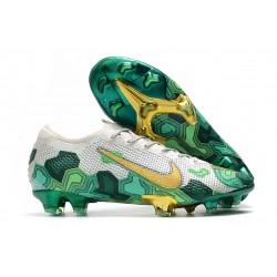 Nike Mercurial Vapor 13 ELITE FG Mbappe Gris Vert Or