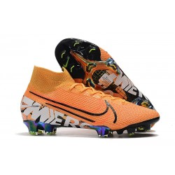 Nike Mercurial Superfly VII Elite DF FG Orange Blanc