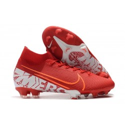 Nike Mercurial Superfly VII Elite DF FG Rouge Blanc