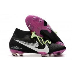 Crampons Nike Mercurial Superfly 7 Elite FG Noir Blanc Violet