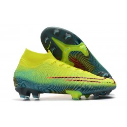 Nike Mercurial Superfly 7 Elite FG Dream Speed Citron Noir Vert