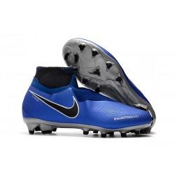 Nike Phantom Vision Elite DF FG Bleu Argent