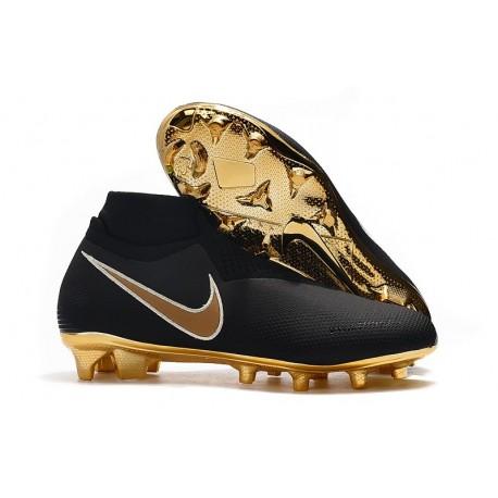 Nike Chaussure Phantom VSN Elite DF FG Noir Or