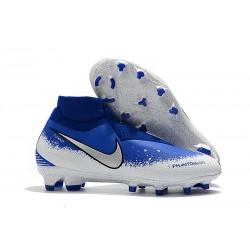 Nike Chaussure Phantom VSN Elite DF FG Blanc Bleu Noir