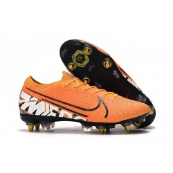 Nike Mercurial Vapor 13 Elite SG-PRO Anti-Clog Orange Blanc Noir