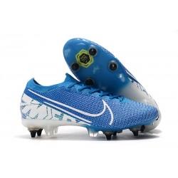 Nike Mercurial Vapor 13 Elite SG-PRO Anti-Clog New Lights Bleu Blanc