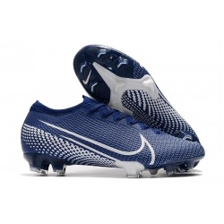 Chaussures Nike Mercurial Vapor XIII 360 Elite FG Bleu Blanc