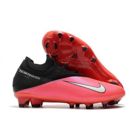Chaussure foot Nike Phantom Vision II Elite DF FG Cramoisi Argent Noir