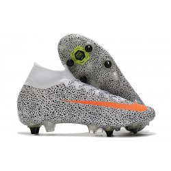 Nike Mercurial Superfly 7 Elite SG-Pro Anti-Clog CR7 Safari-Blanc Orange Noir