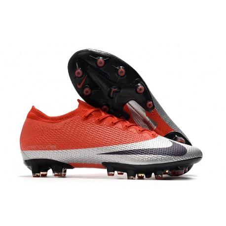 Chaussures Nike Mercurial Vapor XIII Elite AG-PRO Rouge Argent Noir