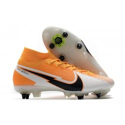 Nike Mercurial Superfly 7 Elite SG Anti-Clog Orange Laser Noir Blanc