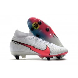 Nike Mercurial Superfly 7 Elite SG-Pro Anti-Clog Blanc Rouge Bleu
