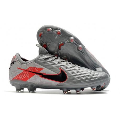 Nike Tiempo Legend 8 Elite FG Crampon Foot - Gris Noir Rouge