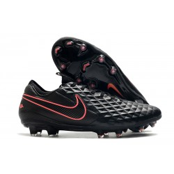 Nike Tiempo Legend 8 Elite FG Crampon Foot - Noir Rose