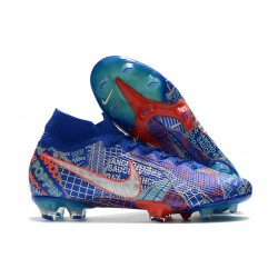Nike Mercurial Superfly 7 Elite FG Sancho SE11 Bleu Rouge