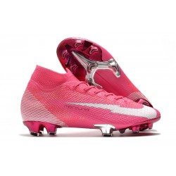 Nike Mercurial Superfly 7 Elite DF FG x Mbappe Rose Blanc Noir