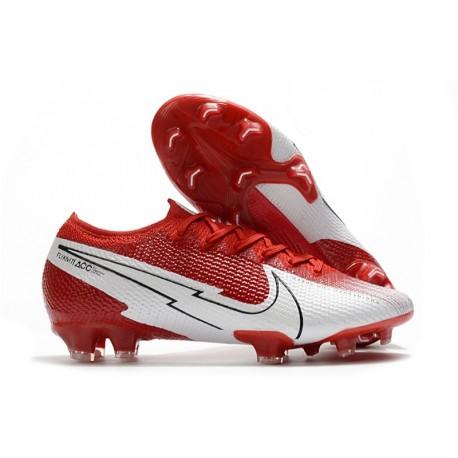 Nike Mercurial Vapor 13 Elite FG ACC Rouge Blanc