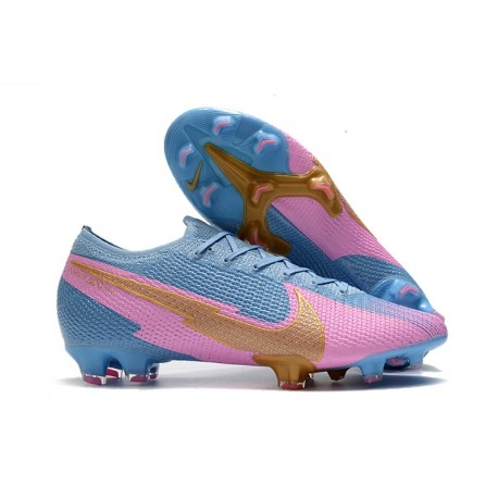 Nike Mercurial Vapor 13 Elite FG ACC Bleu Rose Or