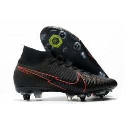Nike Mercurial Superfly 7 Elite SG-Pro Anti-Clog Noir Rouge