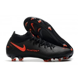Nouvelles Nike Phantom GT Elite Dynamic Fit FG Noir Rouge Chili Gris