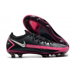 Nike Crampons de Foot Phantom GT Elite FG Noir Argent Rose