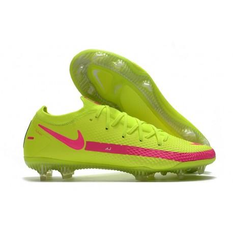Nike Crampons de Foot Phantom GT Elite FG Vert Rose