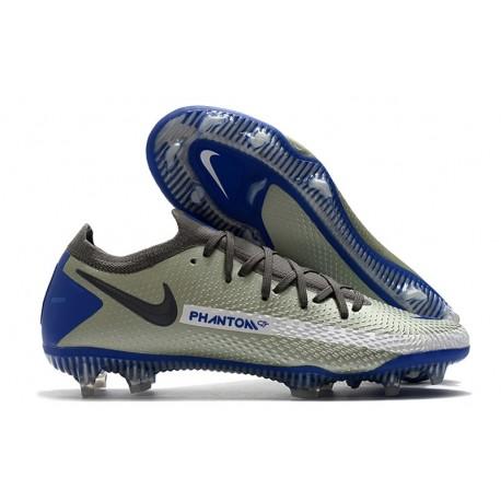 Nike Crampons de Foot Phantom GT Elite FG Bleu Gris Noir