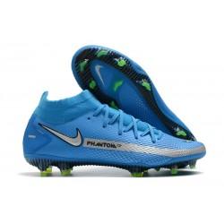 Nike Phantom GT Elite DF FG Neuf Crampons Bleu Argent