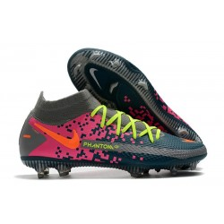 Chaussure Nouvelle Nike Phantom GT Elite Dynamic Fit FG Gris Bleu Rose