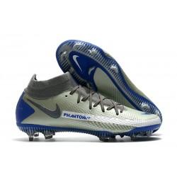 Nike Phantom GT Elite DF FG Neuf Crampons Argent Noir Bleu