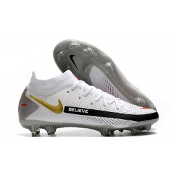 Nike Phantom GT Elite DF FG Neuf Crampons Bianco Negro Or Rouge