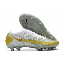 Nike Chaussure Phantom GT Elite FG Or Blanc